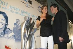Gonzalo Rodriguez Special Award awarded to Giorgio Pantano talks to Nani Rodriguez,