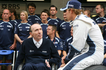Sir Frank Williams, WilliamsF1 Team, Team Chief, Managing Director, Team Principal and Nico Rosberg, WilliamsF1 Team