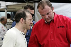 Jacques Villeneuve and crew chief Richard 'Slugger' Labbe