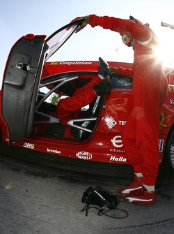 Risi Competizione team member at work