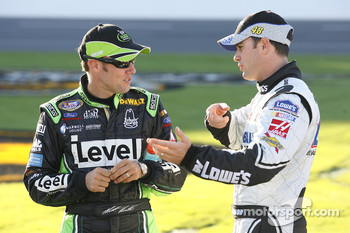 Matt Kenseth and with Jimmie Johnson
