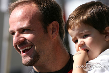Rubens Barrichello, Honda Racing F1 Team and his son