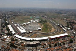 Aerial view of Interlagos