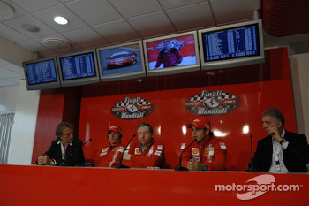 Scuderia Ferrari Marlboro press conference