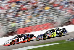 Jimmie Johnson battles Ryan Newman