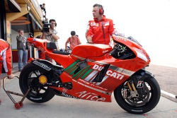 Ducati Marlboro pit area