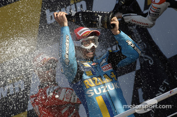 Podium: champagne for John Hopkins
