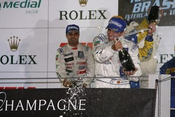 LMP1 podium: champagne shower for Marc Gene