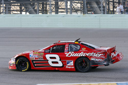 Dale Earnhardt Jr. drives his damaged #8 Chevrolet