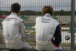 Christian Vietoris, Test Driver, BMW Sauber F1 Team and Jens Klingmann, Eifelland Racing