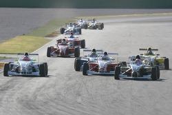 Henry Arundel, Fortec Motorsport, Sebastian Saavedra, Eifelland Racing and Daniel Campos-Hull, Eifelland Racing