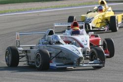 Mathjis Harkema, Josef Kaufmann Racing and Doru Sechelariu, Fortec Motorsport
