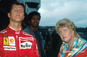 Michael Schumacher with his mother