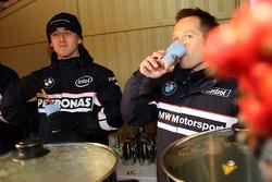 Robert Kubica,  BMW Sauber F1 Team and Andy Priaulx, BMW Team UK, BMW 320si WTCC