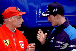 Niki Lauda and Michael Schumacher
