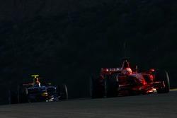 Michael Schumacher, Test Driver, Scuderia Ferrari and Mark Webber, Red Bull Racing, RB3