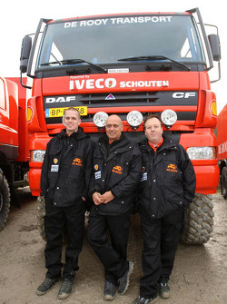 Team de Rooy presentation: service truck team of Toine van Oorschot, Marcel van Melis and Guy van der Sypt