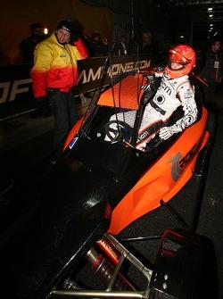 Michael Schumacher climbs aboard