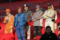Henning Solberg, Petter Solberg, Mattias Ekström, Sébastien Bourdais and Yvan Muller