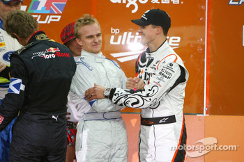 Podium: Michael Schumacher and Heikki Kovalainen