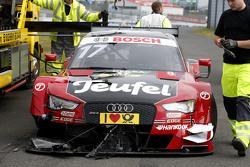 Crashed car of Miguel Molina, Audi Sport Team Abt Audi RS 5 DTM