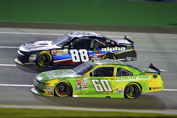 Chris Buescher, Roush Fenway Racing Ford and Ben Rhodes, JR Motorsports Chevrolet
