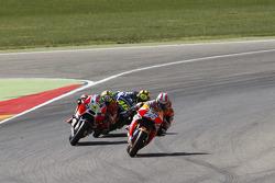 Dani Pedrosa, Repsol Honda Team and Andrea Iannone, Ducati Team and Valentino Rossi, Yamaha Factory Racing