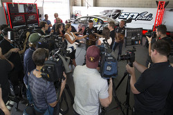 James Courtney, Holden Racing Team with the media
