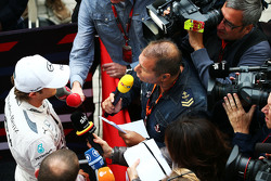 Nico Rosberg, Mercedes AMG F1 met Kai Ebel, RTL TV Presentator