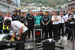 Mercedes AMG F1 op de grid
