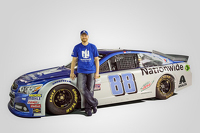 NASCAR Sprint Cup Photos - Dale Earnhardt Jr. with the 2016 Nationwide paint scheme
