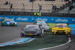 Christian Vietoris , HWA AG Mercedes-AMG C63 DTM  and Timo Glock , BMW Team MTEK BMW M3 DTM