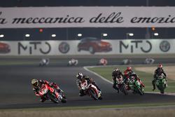 Chaz Davies, Ducati Team, Leon Haslam, Aprilia Racing Team, Tom Sykes, Kawasaki, Jonathan Rea, Kawasaki and Jordi Torres, Aprilia Racing Team