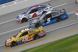 Matt Kenseth, Joe Gibbs Racing Toyota and Kasey Kahne, Hendrick Motorsports Chevrolet and Ricky Stenhouse Jr., Roush Fenway Racing Ford