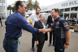 Carlos Slim Domit, Chairman of America Movil with Jean Todt, FIA President and Christian Horner, Red Bull Racing Team Principal