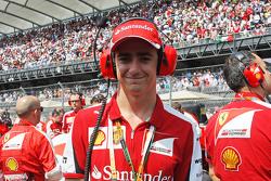Esteban Gutierrez, Ferrari Test and Reserve Driver on the grid.