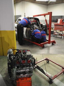 #59 Brumos Porsche/ Kendall Porsche Riley powerplant
