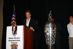 2006 Indy Pro Series champion Jay Howard speaks at the Shav Glick Newsmakers Forum