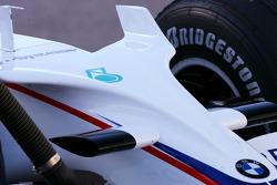 BMW Sauber F1 Team F1.08 body work detail