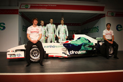 Mike Conway, Test Driver, Honda Racing F1 Team, Rubens Barrichello, Honda Racing F1 Team, Alexander Wurz, Test Driver, Honda Racing F1 Team, Jenson Button, Honda Racing F1 Team, Luca Filippi, Honda Racing F1 Team