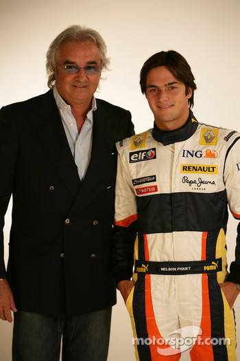 Flavio Briatore, Managing Director, Renault F1, Fernando Alonso, Renault F1 Team