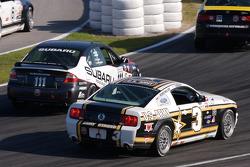 #111 ICY/ Phoenix Racing Subaru Legacy: Chuck Hemmingson, Kristian Skavnes, #3 Blackforest Motorsports Ford Mustang GT: Terry Borcheller, Scott Turner