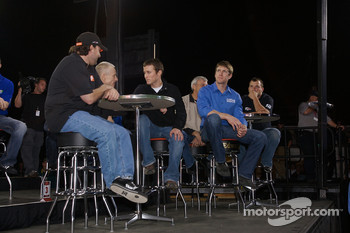 Tony Stewart, Mark Martin, Kasey Kahne, Carl Edwards and Ryan Newman