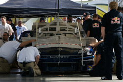 Red Bull Toyota at tech inspection