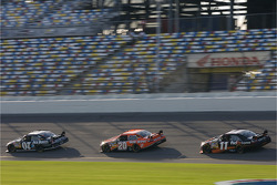 Clint Bowyer, Tony Stewart and Denny Hamlin