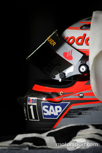The helmet of Heikki Kovalainen, McLaren Mercedes