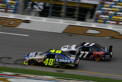 Jimmie Johnson and Sam Hornish Jr.
