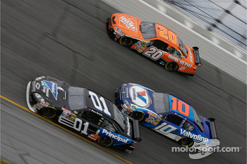 Regan Smith, Patrick Carpentier and Tony Stewart