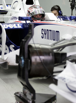 Christian Klien, BMW Sauber F1 Team, Pitlane, Box, Garage