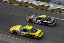 Denny Hamlin and Bobby Hamilton Jr.